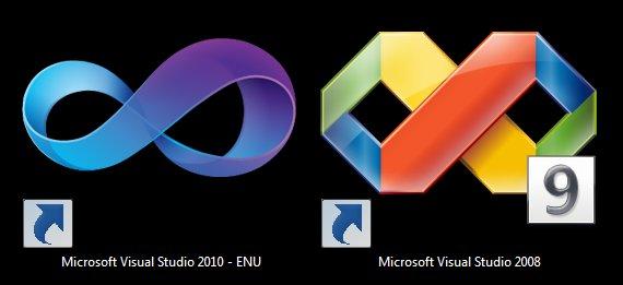 Visual Studio 2010 new logoVisual Studio 2008 Logo
